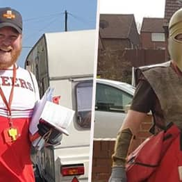 Hero Postman Is Doing Rounds In Fancy Dress To Cheer Up People In Isolation