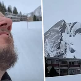 Man Discovers His Own Face In Mountain Complete With His Goatee