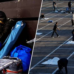 Homeless People Made To Sleep In Car Park As Makeshift Shelter Set Up Near Hotels