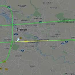 Lufthansa Pilot Draws Penis In The Sky Above Germany As They Wait To Land Plane