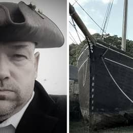 Plymouth Man Spends Three Years Building His Own Pirate Ship
