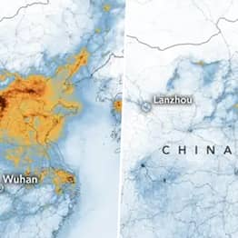 Images Show Drastic Drop In Chinese Pollution Since Coronavirus Quarantine