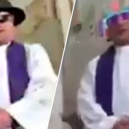 Priest Accidentally Turns On Face Filters While Conducting Online Mass