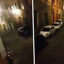 Italian Neighbours Lean Out Of Windows To Sing Together During Lockdown In Siena