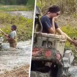 Alabama Man Proposes To Girlfriend While She's Stuck In The Mud