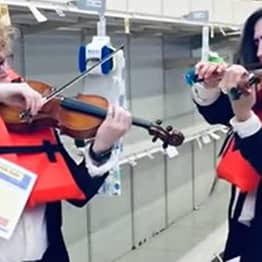 Violinists Play Sinking Titanic Hymn In Empty Toilet Paper Aisle