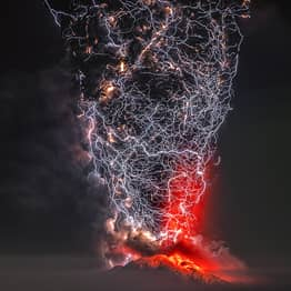 Epic Volcano Lightning Storm Photo Wins 'Perfect Moment' Contest