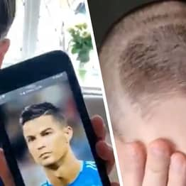 Son Asks For Ronaldo's Haircut, Dad Agrees But Gives Him The Sh*t One