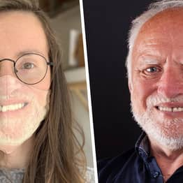 California Woman Makes Herself A Hide The Pain Harold Mask