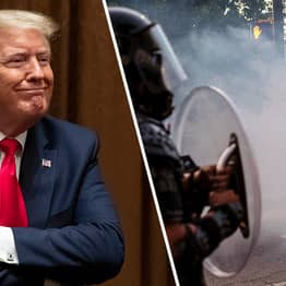 Donald Trump Says George Floyd Protesters Being Tear-Gassed Was 'A Beautiful Scene'