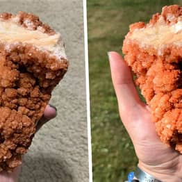 Woman Discovers Rare Crystal That Looks Like A Giant Chicken Tender