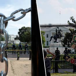 The White House Surrounded By Nearly 2 Miles Of Fencing And Barricades