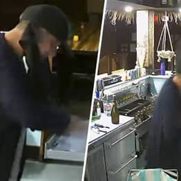 Man Gets Drunk Robbing Restaurant Then Leaves Money And Booze Behind