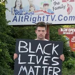 YouTuber Holds Black Lives Matter Sign In 'America's Most Racist Town'