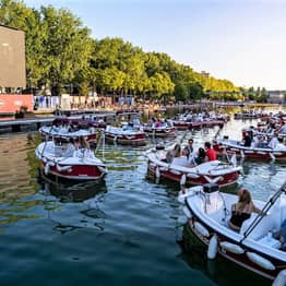 Floating Movie Theatre Where You Sit In Socially Distant Boats Pops Up In Paris