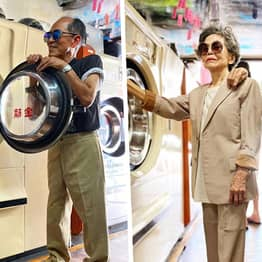 Elderly Taiwanese Couple Who Model People's Forgotten Laundry Become Surprise Hit