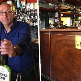Cornwall Pub Installs Electric Fence At The Bar To Maintain Social Distancing