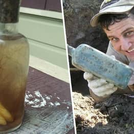 New Orleans Man Finds 'Witch Bottle' With Teeth Inside Buried In Ground By Mississippi River