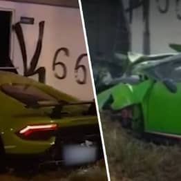 Man Smashes £215,000 Lamborghini Into Wall After Borrowing It From Friend