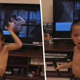 Five-Year-Old Kung Fu Prodigy Nails Bruce Lee's Most Famous Nunchuck Scene