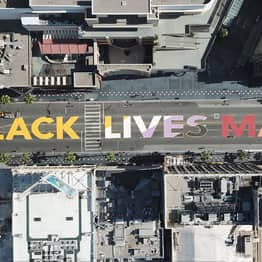Permanent Black Lives Matter Mural To Be Installed On Hollywood Boulevard