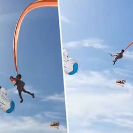 Girl Lifted 100ft Into Sky After Getting Caught On Kite
