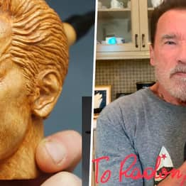 Fan Carves Arnold Schwarzenegger Pipe And Arnie Gets In Touch To Buy It