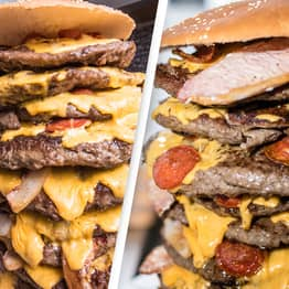 Restaurant In Cumbria Giving Away 30,000-Calorie Burger For Free If You Can Eat In An Hour