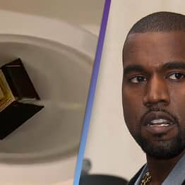 Kanye West Posts Video Of Himself Peeing On His Grammy