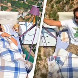 Guy Goes Paragliding While In His Bed