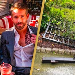 Ryan Reynolds Trolls The Rock After He Pulls Gate Down With His Bare Hands