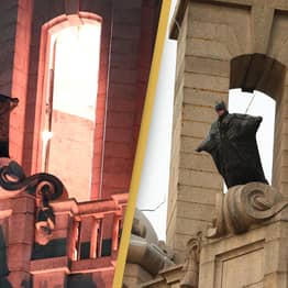 Crowds Gather To Watch The Batman Perform Incredible Stunt In Liverpool