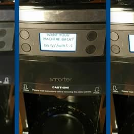 Smart Coffee Maker Hacked By Cybersecurity Researcher Demands Ransom Money
