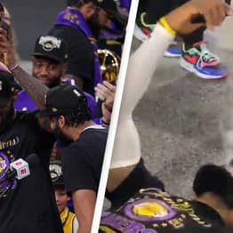 LeBron James Celebrates Fourth Title With Cigar And FaceTime With His Mum