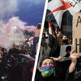 Protests Bring Poland To Standstill After Near-Total Ban On Abortions