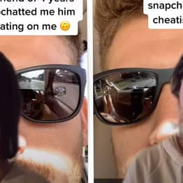 Woman Finds Out Boyfriend Is Cheating From Sunglasses Reflection