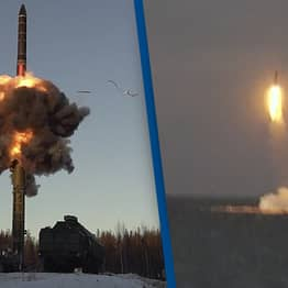 Russia Launches Missiles From Submarines And Underground Silos In Nuclear Drill