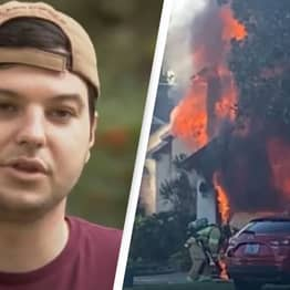 Amazon Delivery Driver Ran Into Burning House To Rescue Elderly Man