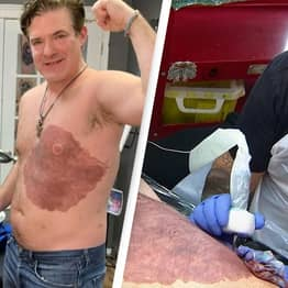 Dad Spends More Than 30 Hours Getting Tattoo Of Son's Birthmark