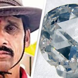 Farmer Finds 'Life-Changing' $80,000 Diamond In The Dirt