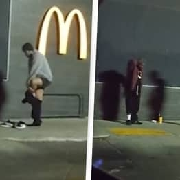 Guy Seen Taking His Sweatpants Off To Give To Homeless Man