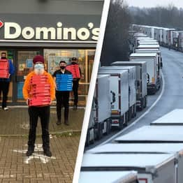Sikh Volunteers Deliver One Thousand Pizzas To Stranded Lorry Drivers In Kent