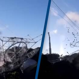 Footage Captures Exact Moment The Arecibo Telescope Collapsed