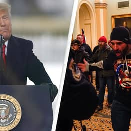 Trump Tweets Urging Rioters To Remain Peaceful Hours After Telling Them To March On Capitol