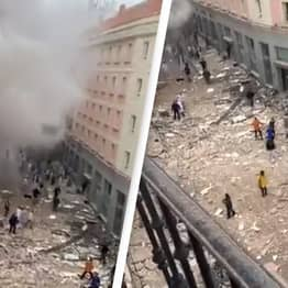 Madrid Rocked By Huge Explosion That Rips Through Building