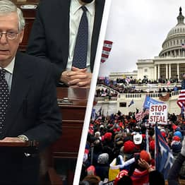 Mitch McConnell Says Capitol Rioters Were 'Fed Lies' And 'Provoked' By Trump