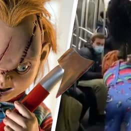 Man Dressed As Chucky Hassles People Not Wearing Masks On New York Subway