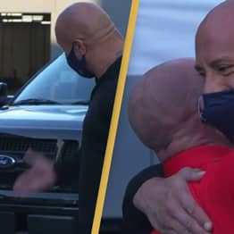 Dwayne Johnson Gifts Truck To Long-Time Friend Who Took Him In When He Was Homeless