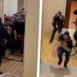 Capitol Cop Who Led Rioters Away From Unlocked Senate Chamber Hailed As Hero