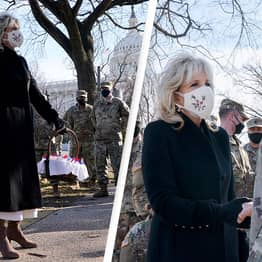 Jill Biden Surprises National Guard Troops At US Capitol With Fresh Cookies